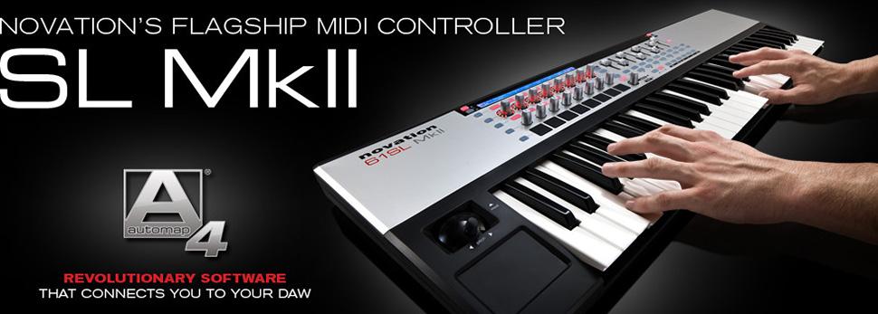 Novation 61 SL MKII میدی کنترلر