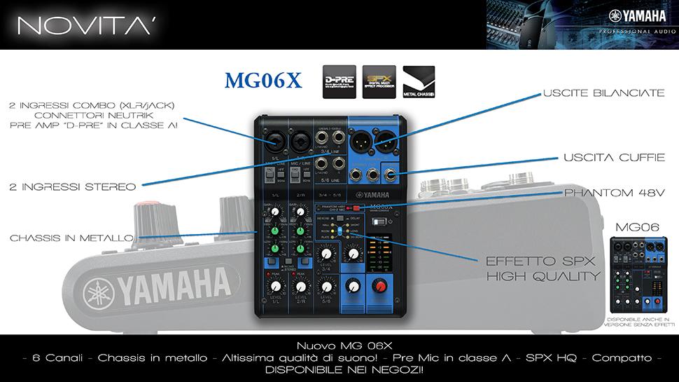 Yamaha MG06X میکسر