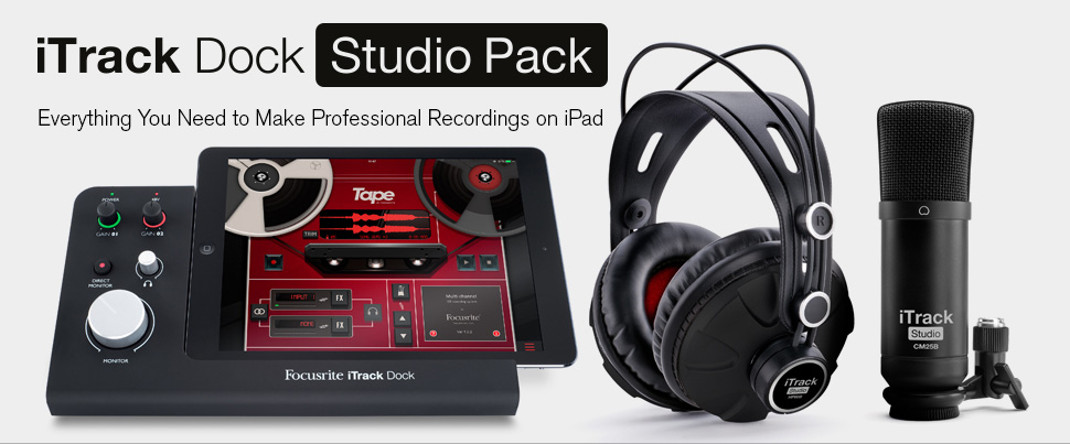 Focusrite iTrack Dock Studio Pack کارت صدا