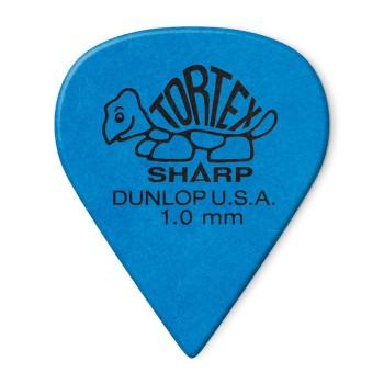 پیک گیتار دانلوپ Dunlop 412R 1.0mm Tortex Sharp Blue Guitar Pick