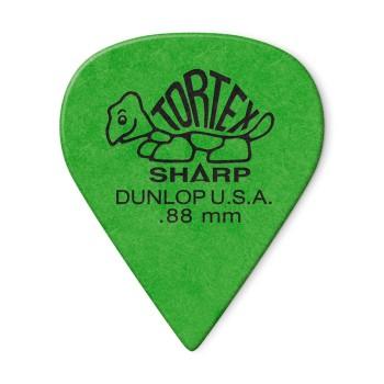 پیک گیتار دانلوپ Dunlop 412R 0.88mm Tortex Sharp Green Guitar Pick