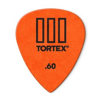 پیک گیتار دانلوپ Dunlop 462R 0.60mm Tortex III  Orange Guitar Pick
