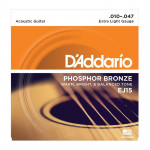 سیم گیتار آکوستیک داداریو D'Addario EJ15 Phosphor Bronze Extra Light Acoustic Strings
