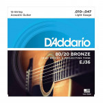 سیم گیتار آکوستیک داداریو D'Addario EJ36