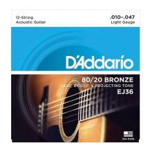 قیمت خرید فروش سیم گیتار آکوستیک داداریو D'Addario EJ36