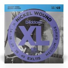 قیمت خرید فروش سیم گیتار الکتریک داداریو D'Addario EXL115 Nickel Wound Electric Strings 11-49 Medium/Blues-Jazz Rock