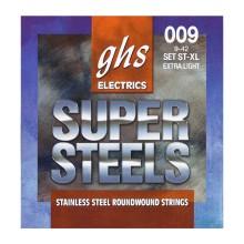 قیمت خرید فروش سیم گیتار الکتریک جی اچ اس GHS GBL super steels electric Guitar strings 09-42