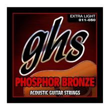 قیمت خرید فروش سیم گیتار آکوستیک جی اچ اس Ghs Phosphor Bronze Acoustic Guitar Strings 11-50