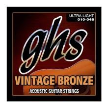 قیمت خرید فروش سیم گیتار آکوستیک جی اچ اس GHS Vintage Bronze Acoustic Guitar Strings 10-46