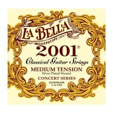 قیمت خرید فروش سیم گیتار کلاسیک لابلا La Bella 2001 Medium Tension Silver Plated Wound