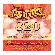 قیمت خرید فروش سیم گیتار کلاسیک لابلا La Bella 820 Red Nylon