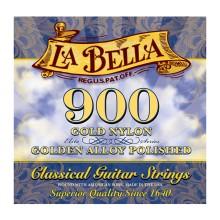 قیمت خرید فروش سیم گیتار کلاسیک لابلا La Bella 900 Elite – Gold Nylon, Polished Golden Alloy