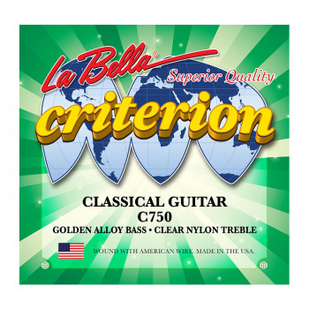 سیم گیتار کلاسیک لابلا La Bella C750 Criterion Classical Guitar, Clear Nylon