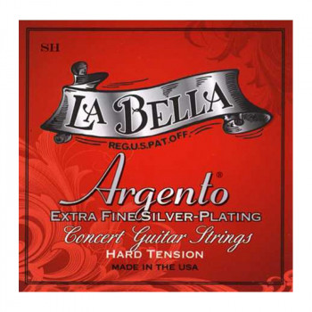 سیم گیتار کلاسیک لابلا La Bella SH Argento Extra Fine Silver Plating – Hard Tension