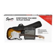 قیمت خرید فروش گیتار الکتریک فندر Fender Squier Stratocaster Pack LRL Brown Sunburst