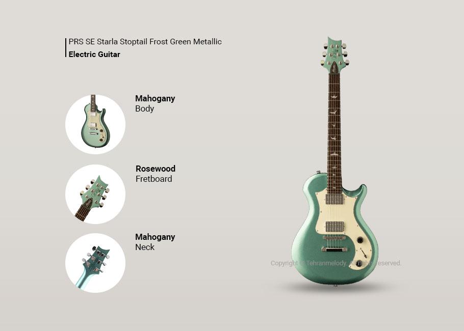 گیتار الکتریک PRS SE Starla Stoptail Frost Green Metallic