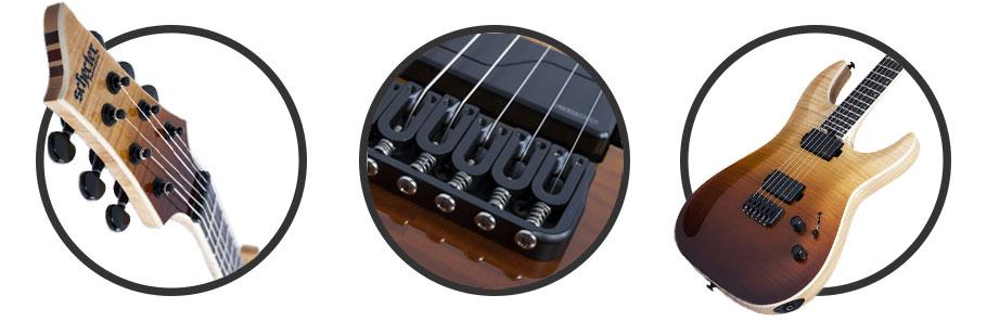 گیتار الکتریک Schecter C-1 SLS Elite-Antique Fade Burst