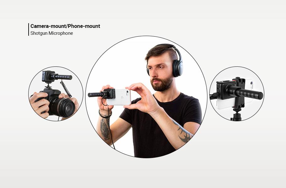 میکروفون IK Multimedia iRig Mic Video Shotgun-Style Video Microphone