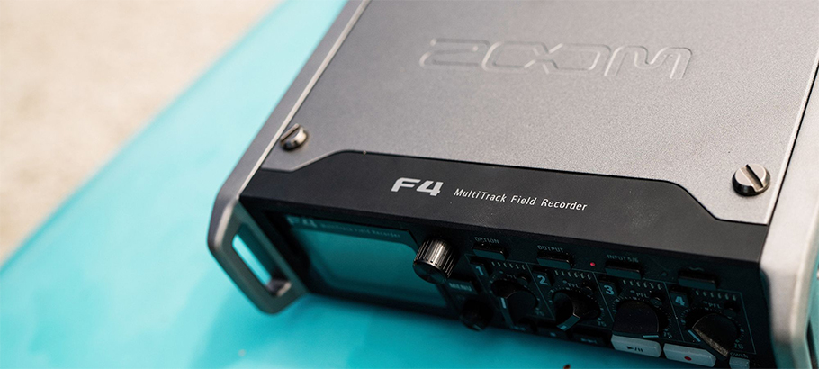 ZOOM F4 Multitrack Field Recorder رکوردر صدا