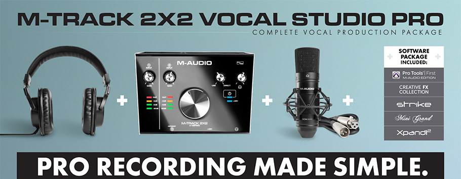 M-Audio M-Track 2x2 Vocal Studio Pro کارت صدا و پکیج استودیو